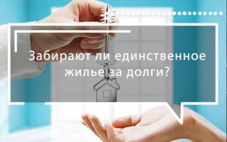 Могут ли арестовать единственное жилье за долг по кредиту?