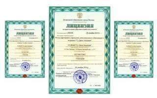 Лицензия на образовательную деятельность профессионального образования