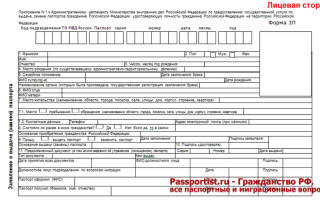 Паспорт гражданина рф образец пустой