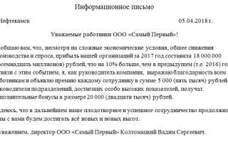 Информационное письмо в банк о деятельности организации образец
