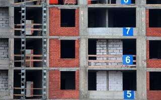 Преостановка строительства жилья