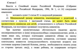 Сумма алиментов по Российским законам